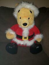 "Disney Store Exclusive 20"" Large SANTA CLAUS POOH Stuffed Winnie CHRISTMAS Plush"