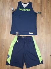 Authentic Team Issued Nike Timberwolves Practice Jersey & Shorts Sz XL Tall NWT!