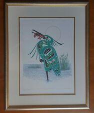 Green Heron Richard Shorty Art Card Northern Tuchone Yukon Native