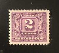 Stamps Canada J7 2c dark violet Mint Postage Due stamp. See description.