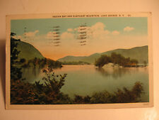1928 Indian Bay and Elephant Mountain, Lake George, N.Y. Postcard
