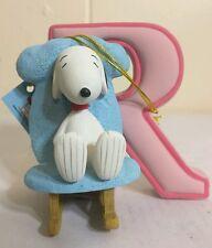 "Westland Giftware ""Snoopy letter R"" figure Nib!#8588"