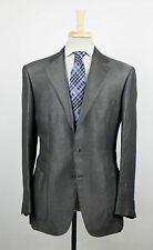 New. BRIONI Parlamento Gray Silk Blend 3/2 Button Sport Coat Size 52/42 R $3995