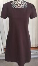 Banana Republic Brown Stretch Ponte Shift Dress Short Sleeve Small (I1346)