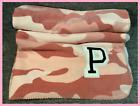 "Victoria's Secret Pink Camo Sherpa Plush Blanket Throw Chalk Rose 50"" x 60"""