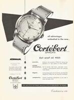 vintage 1953 print ad CORTEBERT SPIROFIX Swiss Suisse watch MID CENTURY ART