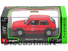 1979 VOLKSWAGEN GOLF MK1 GTI RED 1:32 DIECAST MODEL CAR BY BBURAGO 43205