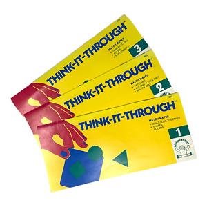 Think It Through Match Mates #1-3 Preschool Home School Non-Electronic VTG