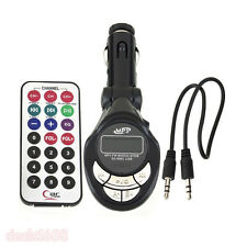 360° Car Kit Lcd Mp3 Player Wireless Fm Transmitter Modulator Usb Sd Mmc Remote