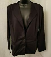 Deb Womens Black 2 Button Shirt Blazer Jacket Top Blouse Size 2X