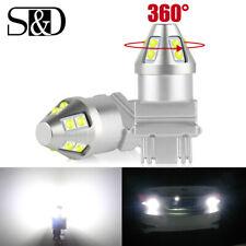 2Pcs White 3157 3457 3057 Signal 10SMD Backup Reverse Tail Turn LED Light Bulb