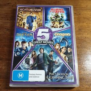 5 Pack Night at the Museum Eragon Aliens Attic Seeker Percy DVD R4 Like New!