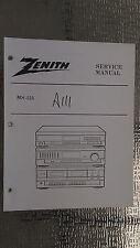 Zenith ms-125 service manual original repair book stereo tape deck player radio