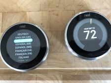 Two (2) Nest T3007ES  3rd Generation Stainless Steel Thermostats (2 Thermostats)