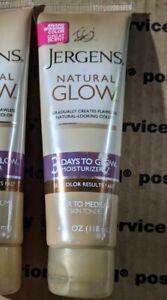 Jergens Natural Glow 3 Days To Glow Moisturizer Fair To Medium 4 OZ ~ READ