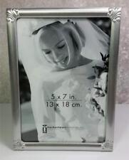"Harbortown Industries Frame Photo Size 5""x7"" Silver Color Corner Designs"