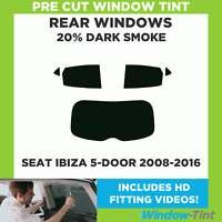Pre Cut Window Tint - SEAT Ibiza 5-door Hatchback 2008-2016 - 20% Dark Rear