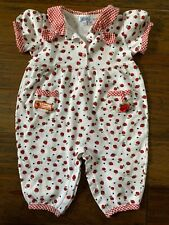 Boutique Friedknit Creations Girls Strawberry Romper Longall Girls 24 M