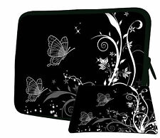 "LUXBURG 15"" Inch Design Laptop Notebook Sleeve Soft Case Bag Cover + Mousepad BK"