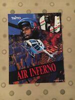 Taito Air Inferno Video Arcade Game Flyer, 1990 NOS