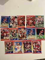 Jerry Rice NFL Score 1990 Lot with Joe Montana 49ers Sports Cards
