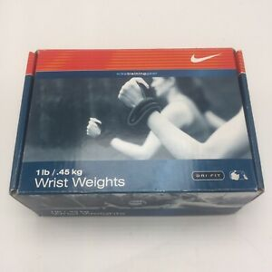 NIKE DRI-FIT Wrist Weights 1 LB Black Adult