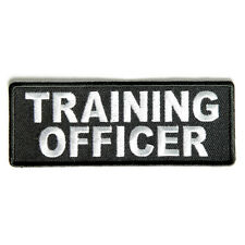 Embroidered Training Officer Sew or Iron on Patch Biker Patch
