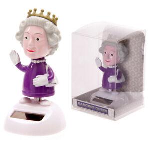 Dancing Queen Elizabeth Novelty solar powered pal waving Queen figure ornament