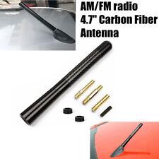 4.7inches Universal Car Antenna Carbon Fiber Radio FM Antena Black Kit&Screw New