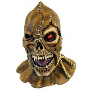 Skull Skullcrow Head & Neck Latex Horror Halloween Mask Fancy Dress by Ghoulish