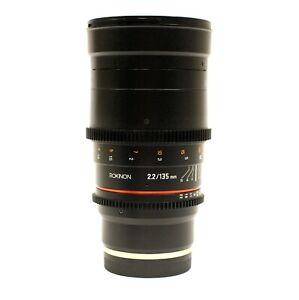 Rokinon 135mm T2.2 ED UMC Telephoto Cine Lens Sony E-Mount