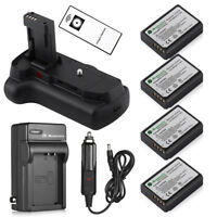 Battery Grip for Canon Rebel T3 T5 T6 EOS 1100D + 4 x LP-E10 Battery + Charger