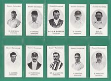 CRICKET - NOSTAGIA CLASSIC REPRINTS - TADDY - SET OF 15 DERBYSHIRE CRICKETERS