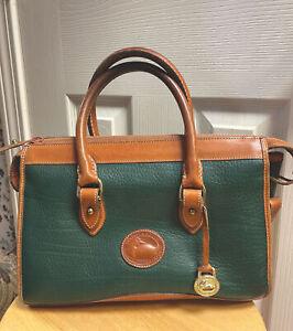 Dooney & Bourke Green Pebbled Leather Handbag Vintage