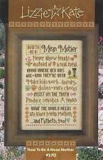 Lizzie Kate How to be a Mean Mother Cross Stitch Chart