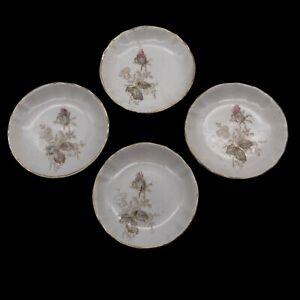 Set of 4 Antique Maddocks Lamberton Works Royal Porcelain Butter Pat Dishes READ