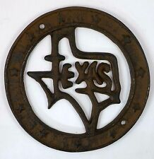 State of Texas Wall Plaque Cast Iron Western Decor