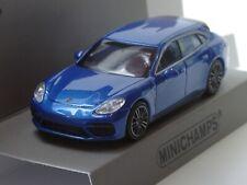 Minichamps Porsche Panamera Turbo S E-Hybrid 2017, blau met. - 870 067111 - 1:87
