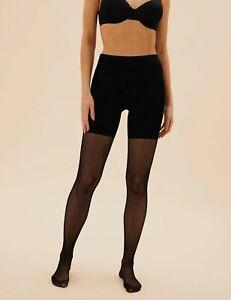 Womens Black Shapewear Body Shaper Slimming Fence Net Fishnet Tights Shorts UK