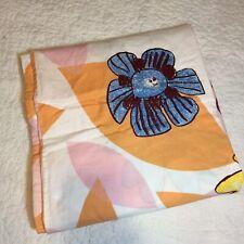 "Ikea Kryp Blomma Duvet Cover Twin 60"" x 84"" 100% Cotton Pink Orange Flowers"