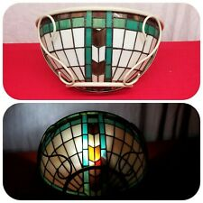 Retro Wall Sconce Stained Glass Half Lamp Vintage Wall Light Fixture Unique