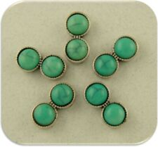 Faux Turquoise Mini Spacer Beads Bars 2 Hole Sliders Bracelet Watch Band QTY 5