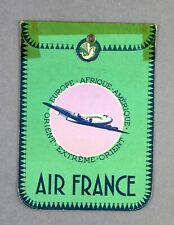 AIR FRANCE LYON VINTAGE AIRLINE LUGGAGE TAG BAG BAGGAGE LABEL AF