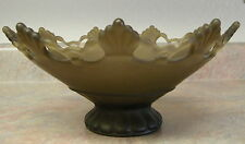 Westmoreland Ring & Petal Amber Brown Flared Glass Console / Fruit Bowl