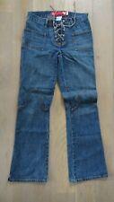 Guess vintage Boot Cut Flare Lace Up Retro Hippie Boho Denim Jeans Women size 27