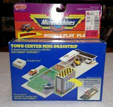 1989 GALOOB MICRO MACHINES TOWN CENTER MINI DRAGSTRIP PLAYSET