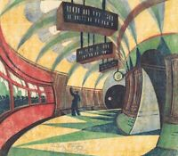 The Tube station : Cyril E. POWER : 1934 : Archival Quality Art Print