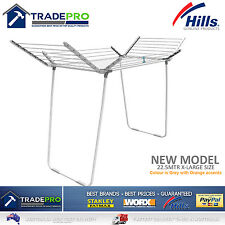 Hills Clothes Line Airer Premium 4 Wing 22.5Mtr Expanding Portable Drying Rack
