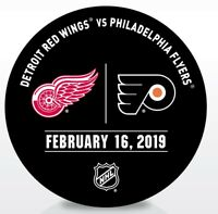 Philadelphia Flyers Issued Unused Warm Up Puck 2/16/19 Vs Detroit Red Wings