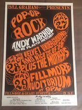 Warhol Velvet Underground Plastic Inevitable poster - signed - 2nd printing MINT